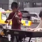 【音楽】ヴァイオリンを奏でるストリートミュージシャンがカッコイイ!