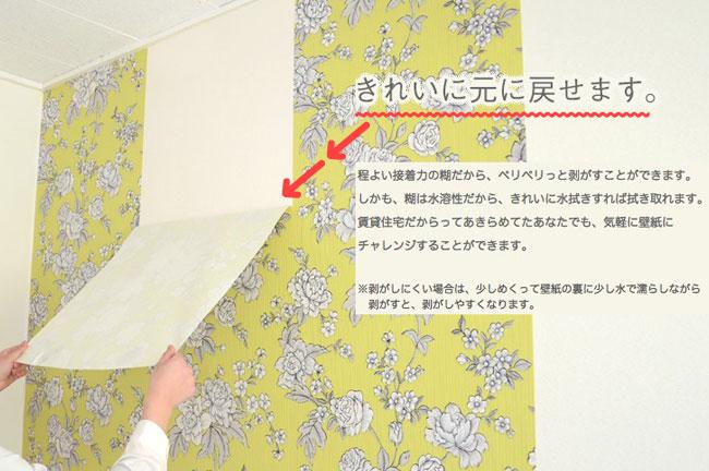 【DIY】賃貸でも使える壁紙があるらしい。