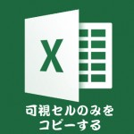 【Excel】可視セルのみをコピーするショートカット(非表示した部分を除外してコピーしたい)